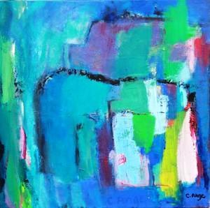 Cheval à la tête rose, 60x60, 2008